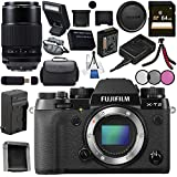Fujifilm X-T2 Mirrorless Digital Camera (Body Only) 16519247 + Fujifilm XF 80mm f/2.8 R LM OIS WR Macro Lens #16559168 Bundle