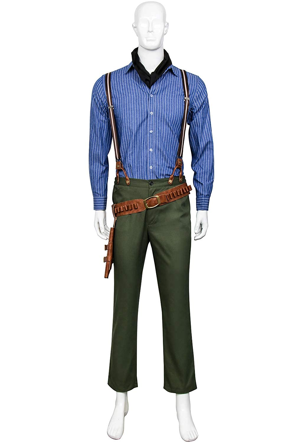 eba9a88c Amazon.com: Partyever Red Dead Arthur Morgan Cosplay Costume Halloween  Overall Uniform Mens Party Cosplay Suits: Clothing