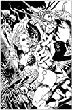 RED SONJA TARZAN #1 JETPACK COMICS/FORBIDDEN PLANET JIM BALENT BLACK AND WHITE EXCLUSIVE D. E.