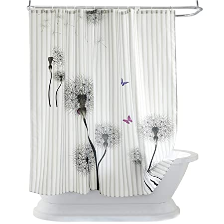 LRZLZY Polyester Thick Waterproof And Mildew Dandelion Shower Curtain Size 150cm180cm Amazoncouk Kitchen Home