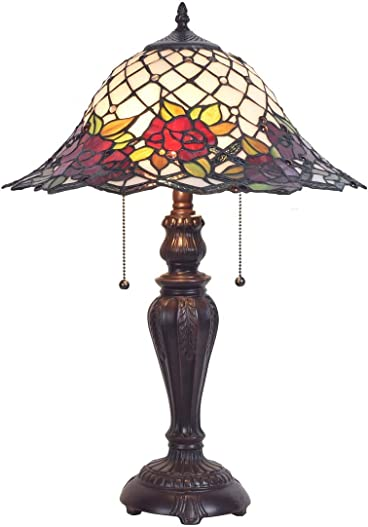 Chesterfield Tiffany Style Stained Glass Table Lamp