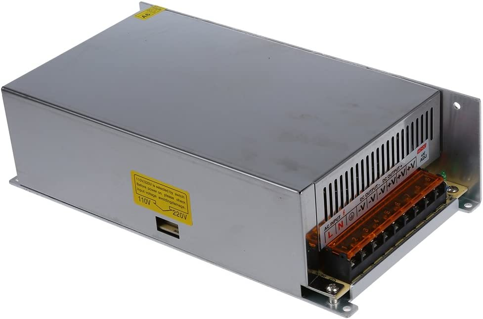 WOVELOT DC 12V 50A 600W Switching Power Supply Transformer for LED Strip Light 110//220V