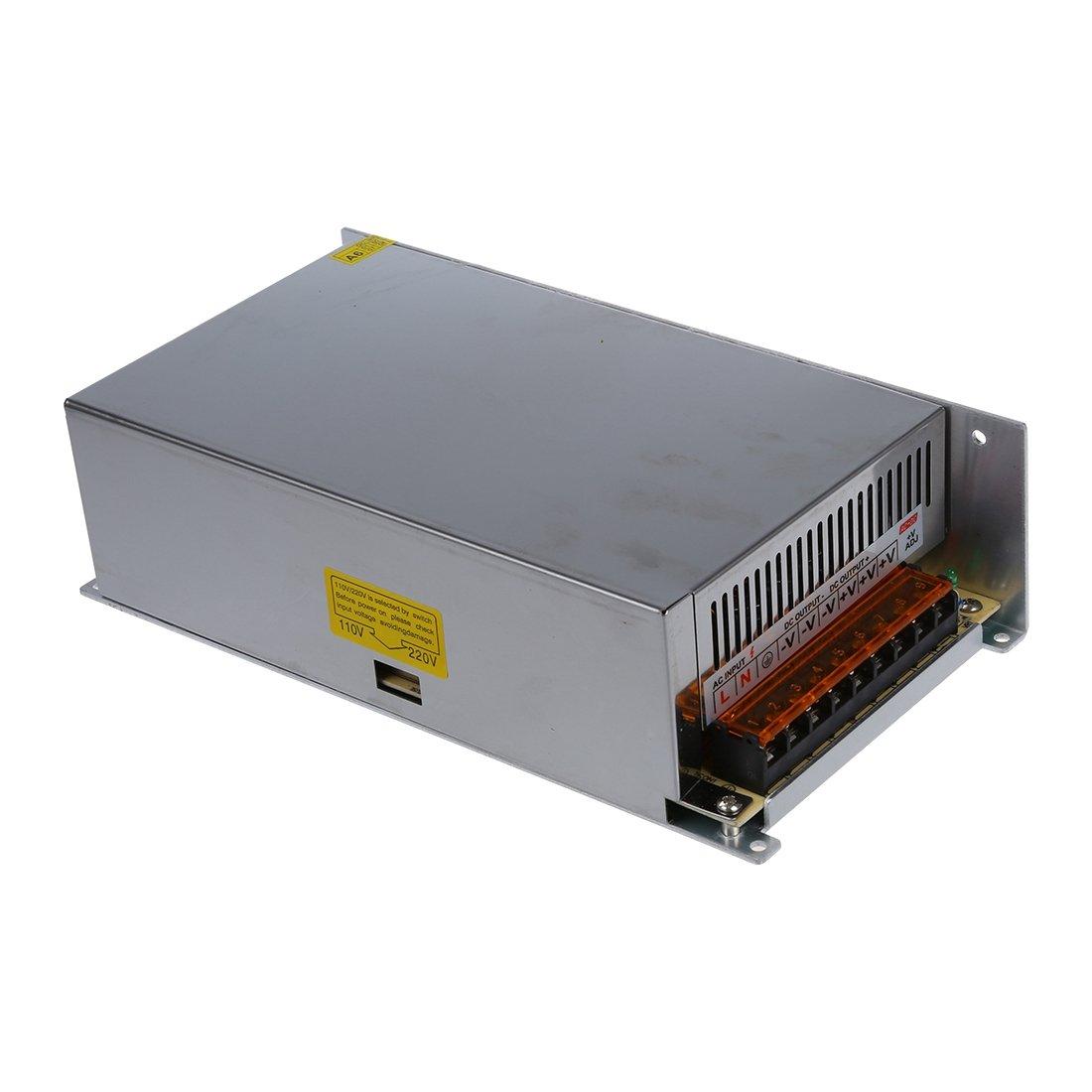 R DC 12V 50A 600W Switching Power Supply Transformer for LED Strip Light 110//220V SODIAL
