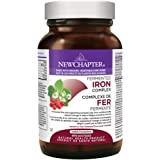 New Chapter Fermented Iron Supplement - Iron Food Complex with Organic Non-GMO Ingredients - 60 ct
