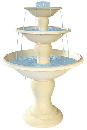 Fontaine Cascade en pierre reconstituée, 3 vasques, h 170cm ...