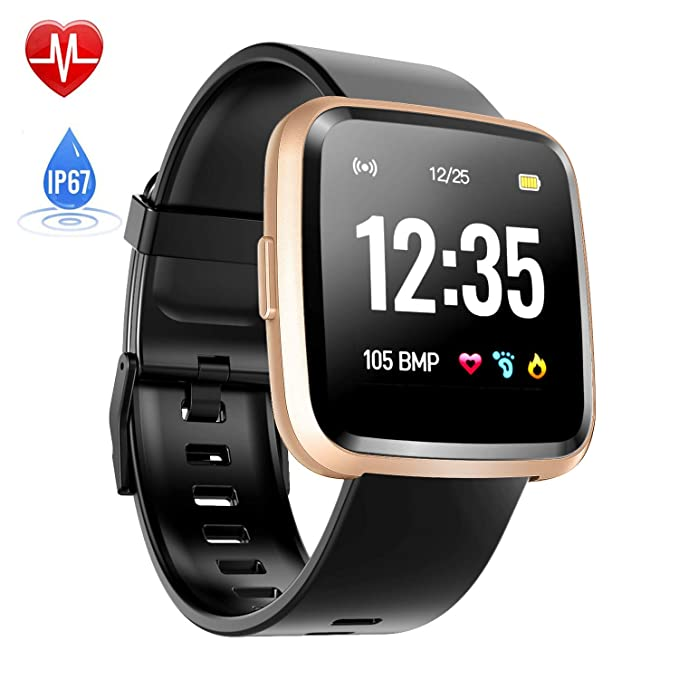 Bluetooth Smartwatch Touch Screen, Hommie Waterproof Sport Smart Watch with Message Reminder Heart Rate Monitor Sleep Tracker Step Counter for Women ...