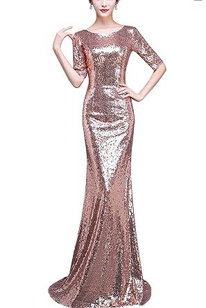d04e8e16475 KAXIDY Robe de Cocktail Perlé Paillette Longue Sexy Perles Art Robes Soirée  Mariage Bal  Amazon.fr  Vêtements et accessoires