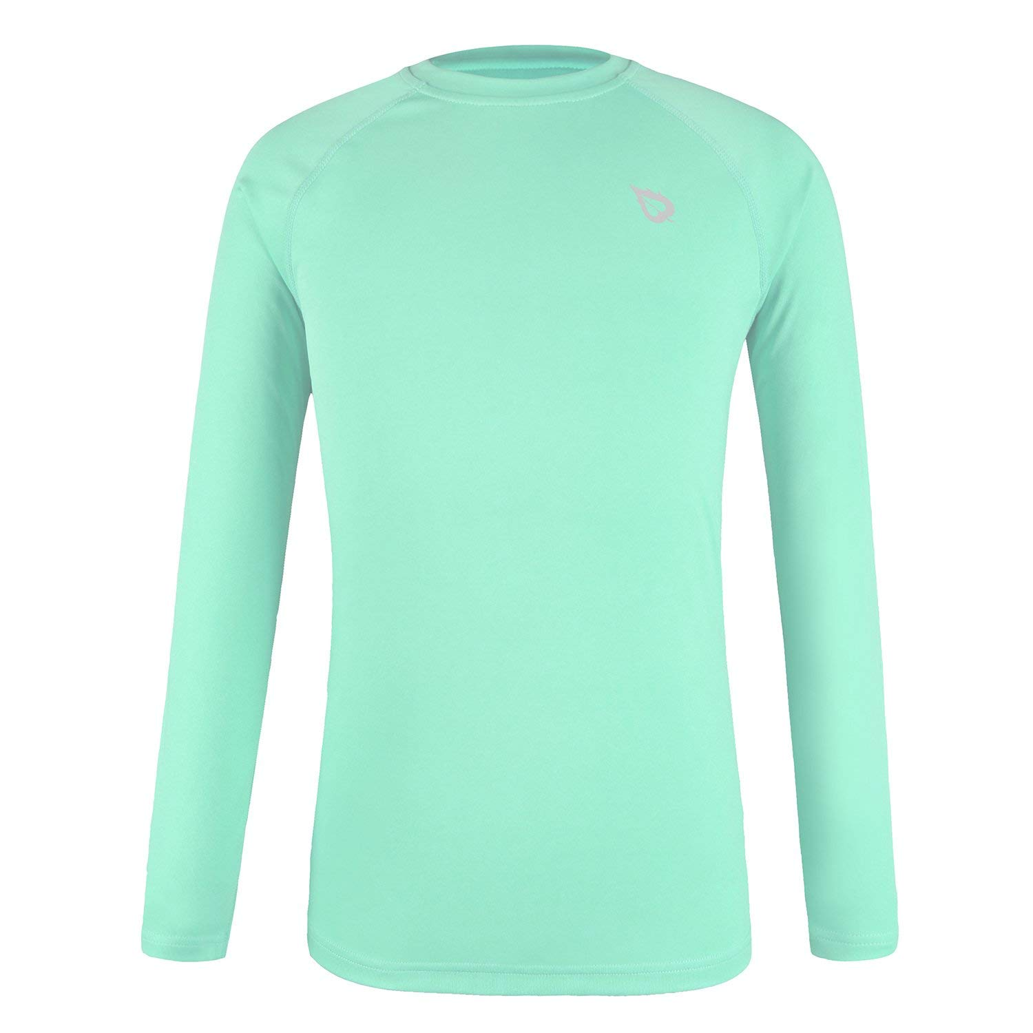 Baleaf Youth UPF 50+ Sun Protection Basic Skins Long Sleeve T-Shirt Light Green Size L