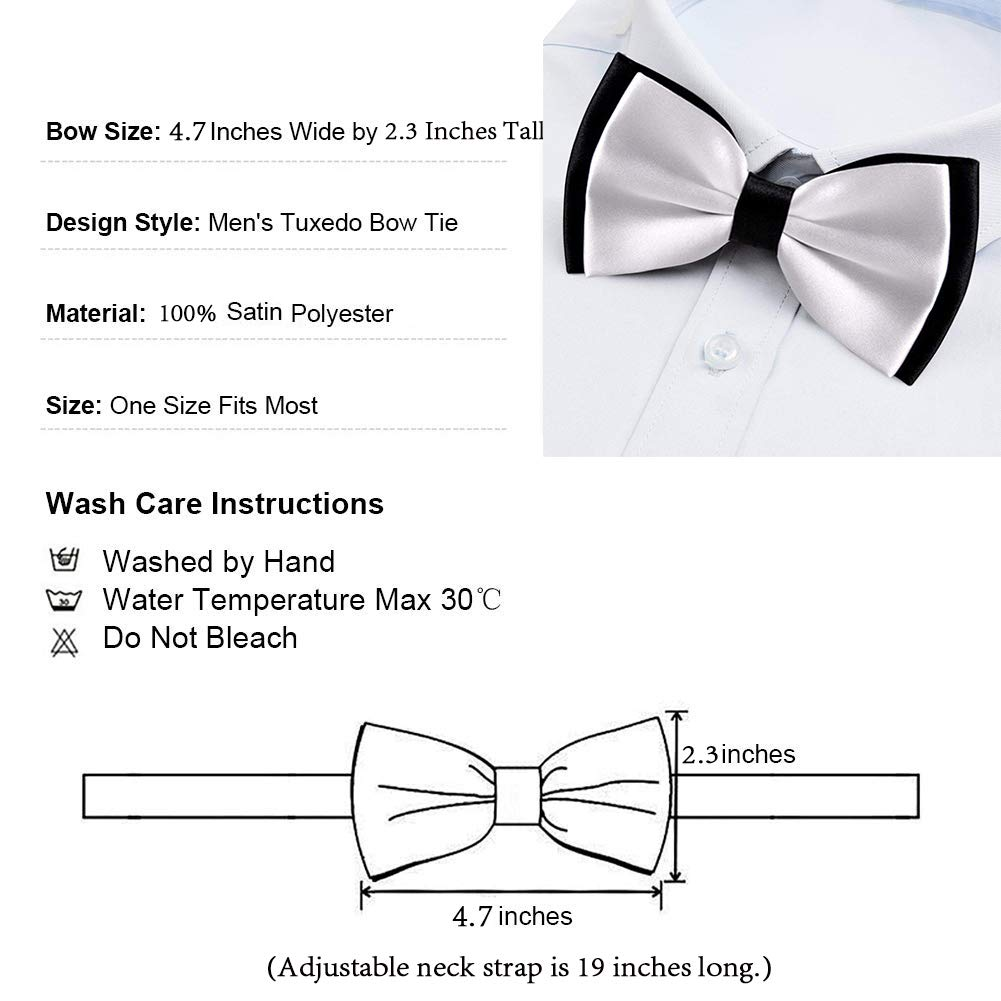 Daisy Flower Pre-Tied Bow Tie Adjustable Bowties for Mens /& Boys
