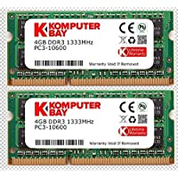 Komputerbay 8Go (2 x 4Go) DDR3 SODIMM (204 broches) 1333Mhz PC3-10600 (9-9-9-25) PC portable Mémoire pour Apple Mac Mini