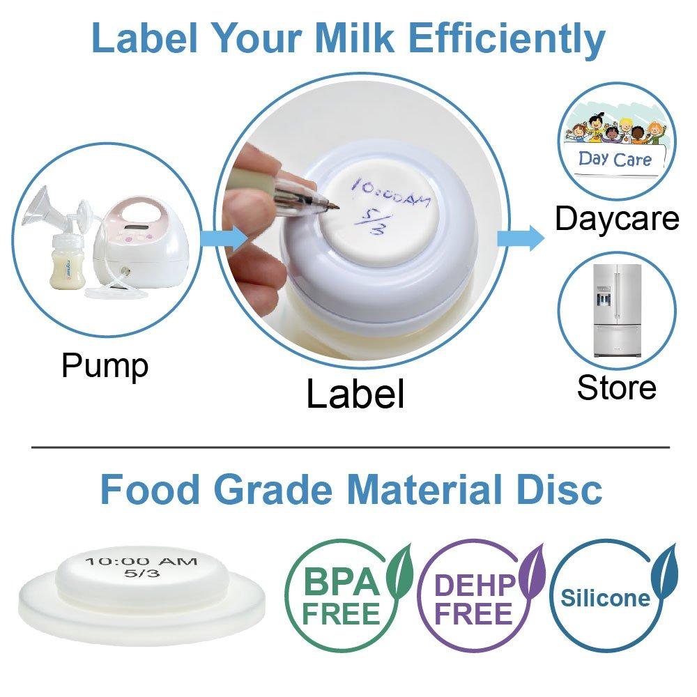 Avec joint /étanche SureSeal Lot de 6 biberons de collecte et de conservation du lait Maymom Large goulot
