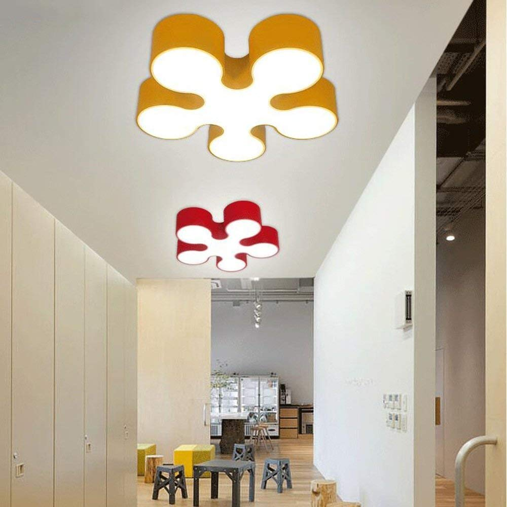 Yaomeimei 天井ランプ、家の居間の天井ランプ、寝室の装飾のシャンデリア、部屋の寝室の天井灯は天井灯の天井灯を導きました現代円形のホテルランプ (Color : Promise Dimming, サイズ : 青) 青 Promise Dimming B07T7F8T2V