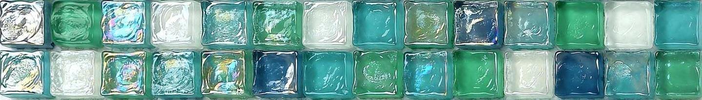 Mosaico de azulejos de cristal nacarado de color verde, azul, blanco y violeta, cristal martillado (MT0052) ... GTDE