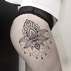 tzxdbh 3 Piezas Impermeable Tatuaje Etiqueta Dorada Flor Collar de ...