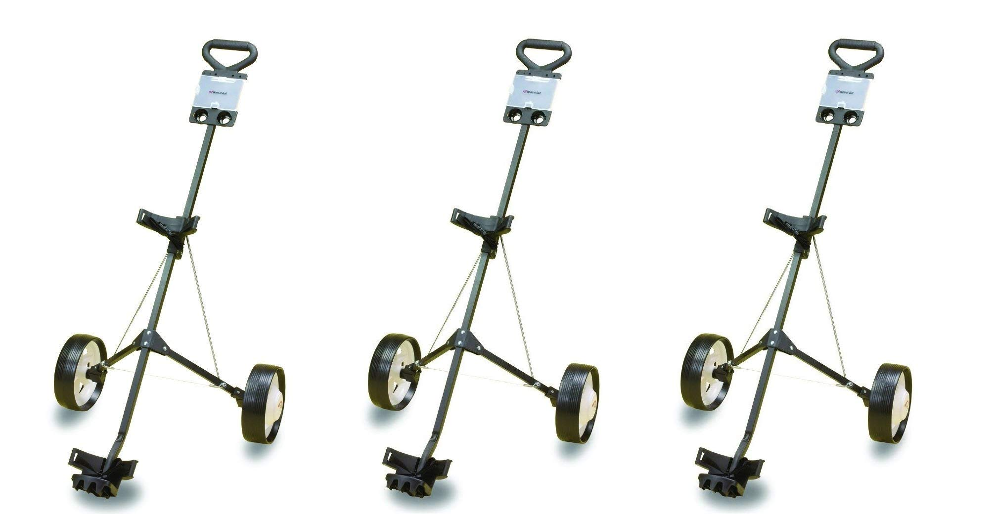 JEF WORLD OF GOLF Deluxe Steel Golf Cart (3-Pack)