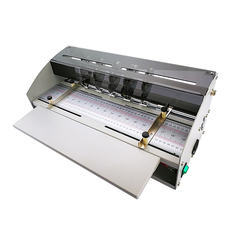 PROMOTOR Electric Book Cover Creasing Machine 110V Card Paper Creasing Machine Folding Dotted Line Cutting Scoring Scorer Creaser