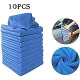 vobome 10 Pezzi di Pulizia Auto Set di Asciugamani Mini Panno di Pulizia in Microfibra Panno Assorbente Cucina Lavare Stracci Panno Piatto Strofinacci