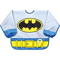 Bumkins Sleeved Bib DC Comics Baby Bib / Toddler Bib / Smock, Waterproof, Washable, Stain and Odor Resistant, 6-24…