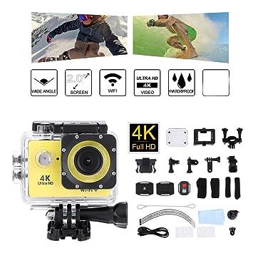 Cámara de acción de 2.0 Pulgadas WiFi 4K HD Cámaras fotográficas ...