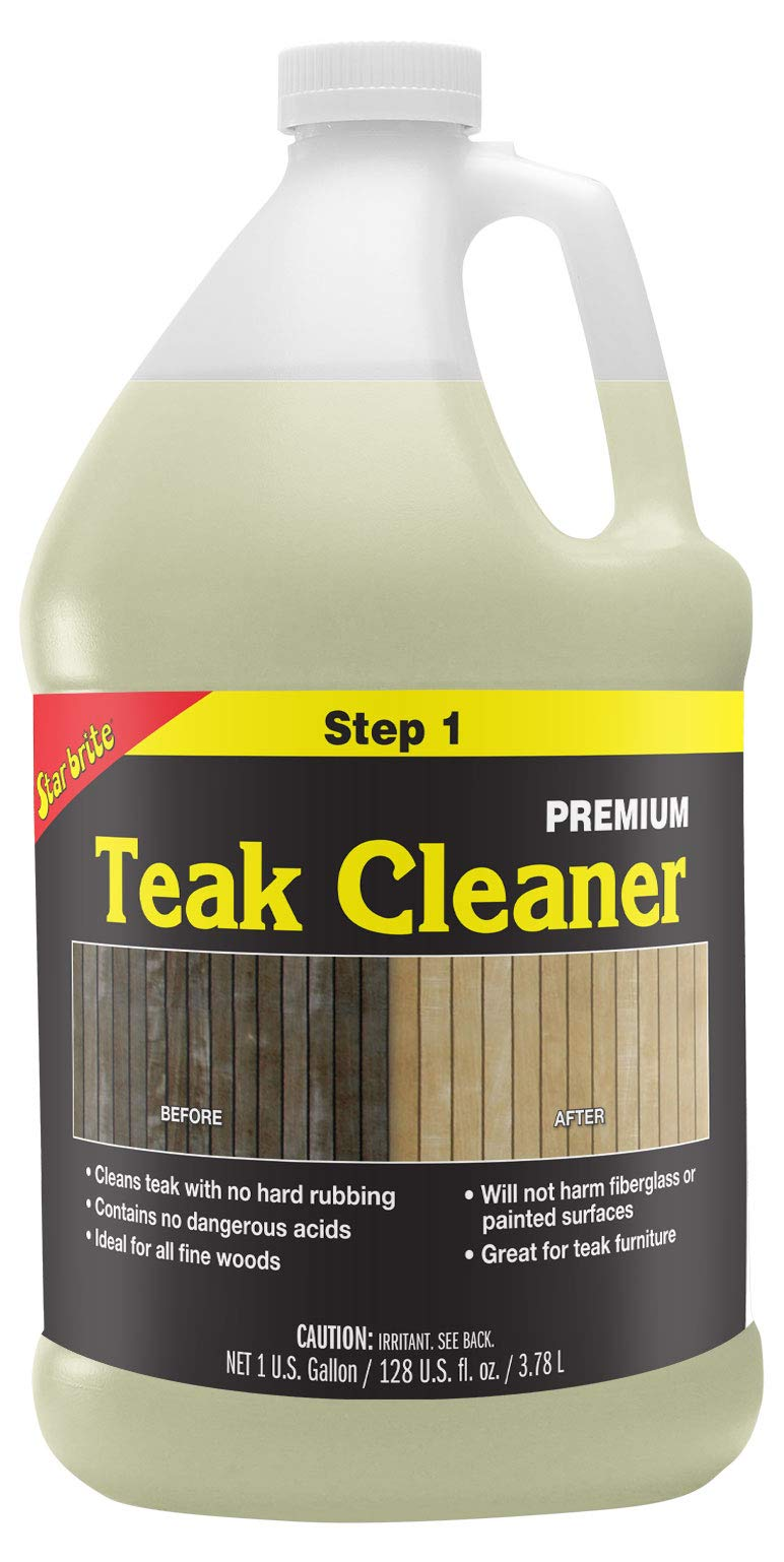 Star brite Premium Teak Cleaner - Restore, Renew & Refresh Old Weathered Gray Teak Furniture & Other Fine Woods by Star Brite