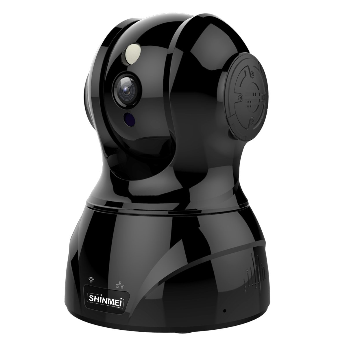 SHINMEI ネットワークカメラ 300万画素 WIFI対応 ウェブカメラ 1536P ペット カメラ 留守 ベビーモニター ワイヤレス監視カメラ 首振り式 スマートトラッキング フェイストラッキング 暗視撮影マイク内蔵 双方向音声機能 動体検知 ペット/子供/お年寄り見守り PSE&技術基準適合証明認証済み(黒) B07DRDLYL1 黒 黒