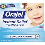 Baby Orajel Instant Relief for Teething Pain, Cherry Flavored 0.33 oz ( Pack of 3 )
