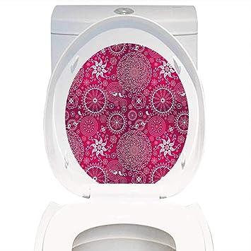Amazon Com Qianhe Home Toilet Seat Sticker Purple Mandala Bohemian