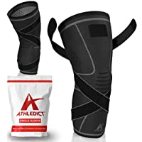 Knee Brace Compression Sleeve with Strap for Best Support & Pain Relief for Meniscus Tear, Arthritis, Running…
