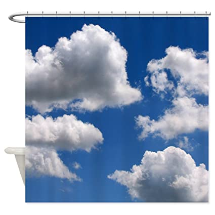 Amazon CafePress Puffy Clouds Shower Curtain Decorative Fabric