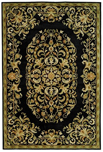 Safavieh Heritage Collection HG640B Handcrafted Traditional Oriental Black Wool Runner (2'3