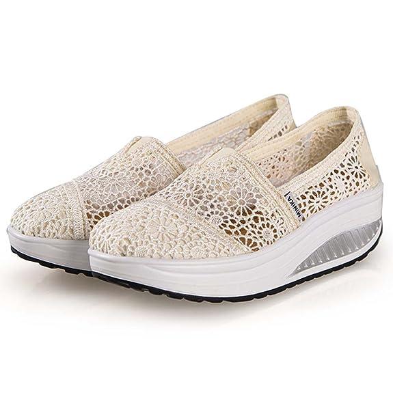 Solshine - Zapatillas de Piel para Mujer, Color Gris, Talla 38 EU/4.5 UK/6.5 US