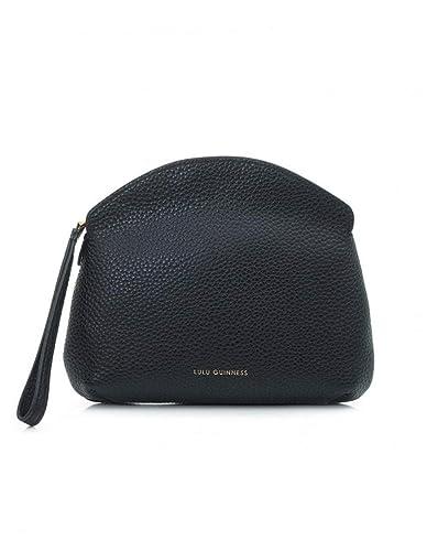 0400ad8c43535 Lulu Guinness Black Peekaboo Lip Cover Clutch Bag - ONE SIZE