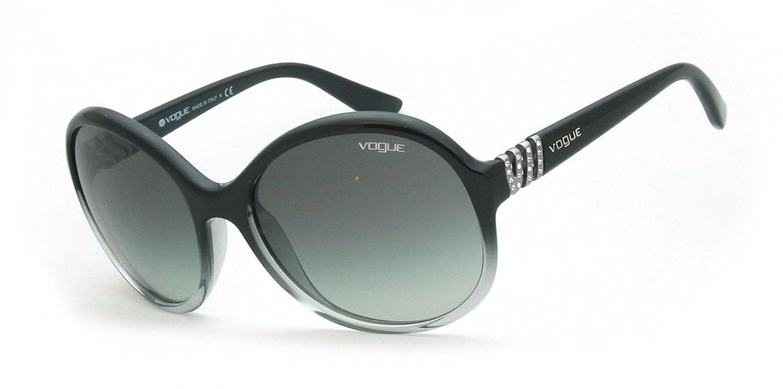 5b9165c3c86 Vogue 2734 188011 Black Gradient 2734SB Round Sunglasses Lens Category 2   Amazon.co.uk  Shoes   Bags