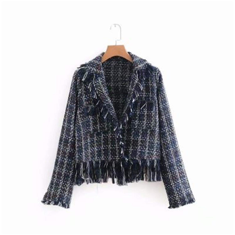 NanGate New European and American Womens Fashion Tassel Side Flower Woolen Loose Coat s