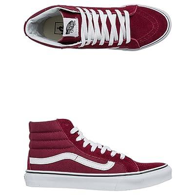 Vans Unisex Vintage SK8-Hi Reissue Red Sneaker - 9 Men / 10.5 Women | Fashion Sneakers