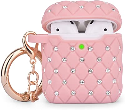 Amazon Com Cagos Compatible With Airpods Case Bling Protective