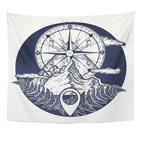Soefipok Tapiz Mandala Decoración para el hogar Montaña y Tatuaje ...