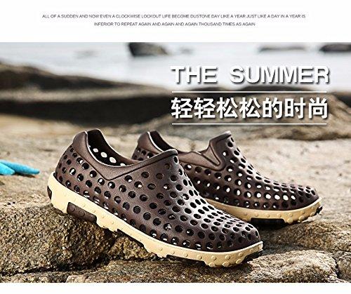 estate Il nuovo Tempo libero sandali Uomini tendenza traspirante Scarpe da foro Antiscivolo Scarpe da spiaggia gioventù Scarpe trend ,Marrone,US=9?UK=8.5,EU=42 2/3?CN=44