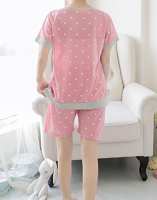 Amazon.com: MyFav Young Girls Pajama Cute Cat Pattern Nighty Comfy ...
