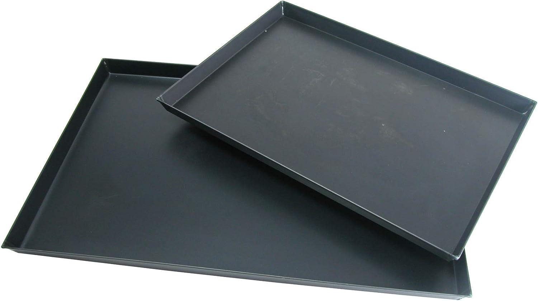 Hornear cacerolas Agnelli Rectangular Sheet Metal Azul, Espesor 0,8 cm, Negro, 60x40x3 cm