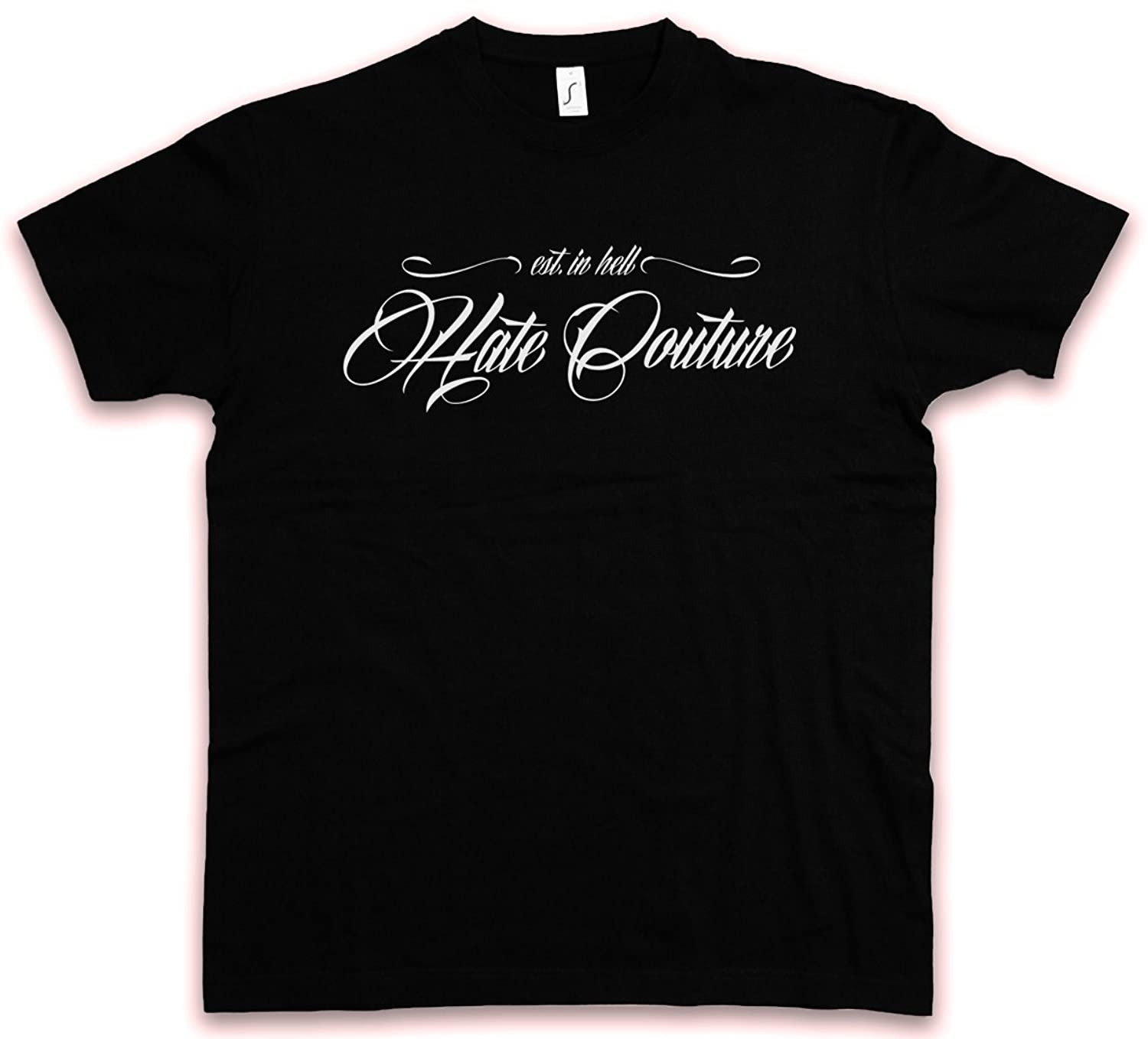 LATIN LETTERS 83 II HC HATE COUTURE T-SHIRT - Rockabilly Tattoo Resistance Rebel Redneck Rap Indie Shirt Sizes S - 5XL