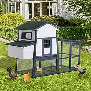 "Generic esting caja runhen Corral Ho gallina Corral Gallinero de madera 91""casa grande holandés nido Run, estilo madera 91"" gran pollito"