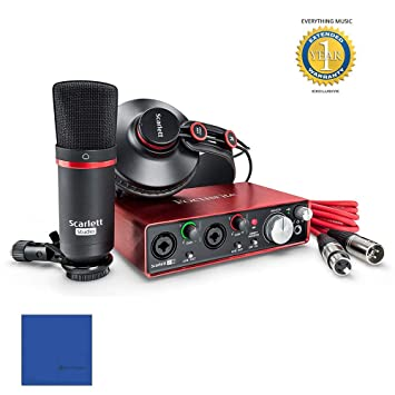 Focusrite Scarlett 2i2 Studio Pack Second Generation (2nd Gen) with Pro  Tools   First & 1 Year Free Extended Warranty