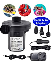 BOMPOW Electric Pump for Inflatables Quick Inflator Pump for Air Mattress Air Bed Paddling Pool Swimming Ring Camping Inflatables Inflate Deflate Pump with 3 Nozzles