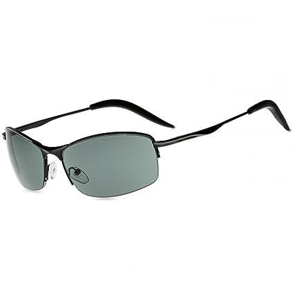 CASPAR SG010 Lunettes de soleil sportive style Matrix unisexe, Couleur:noir / miroir argenté