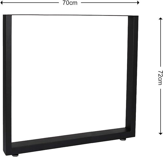 Base per tavolo 70x72 cm verniciatura a polvere grigio Telaio per tavoli gambe tavolo