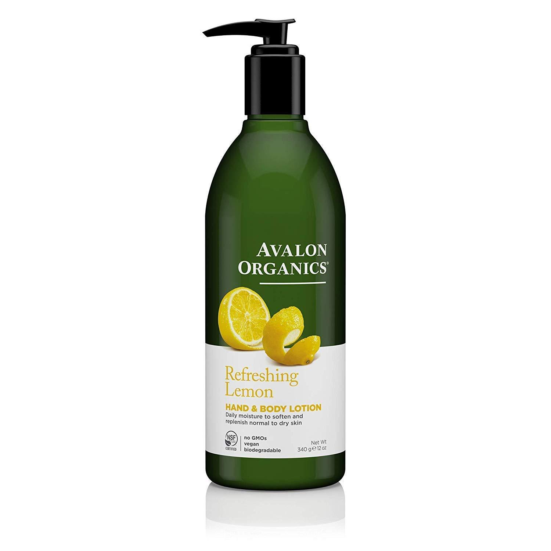 Avalon Organics Refreshing Lemon Hand & Body Lotion, 12 oz. : Avalon Organics Lemon Lotion : Beauty