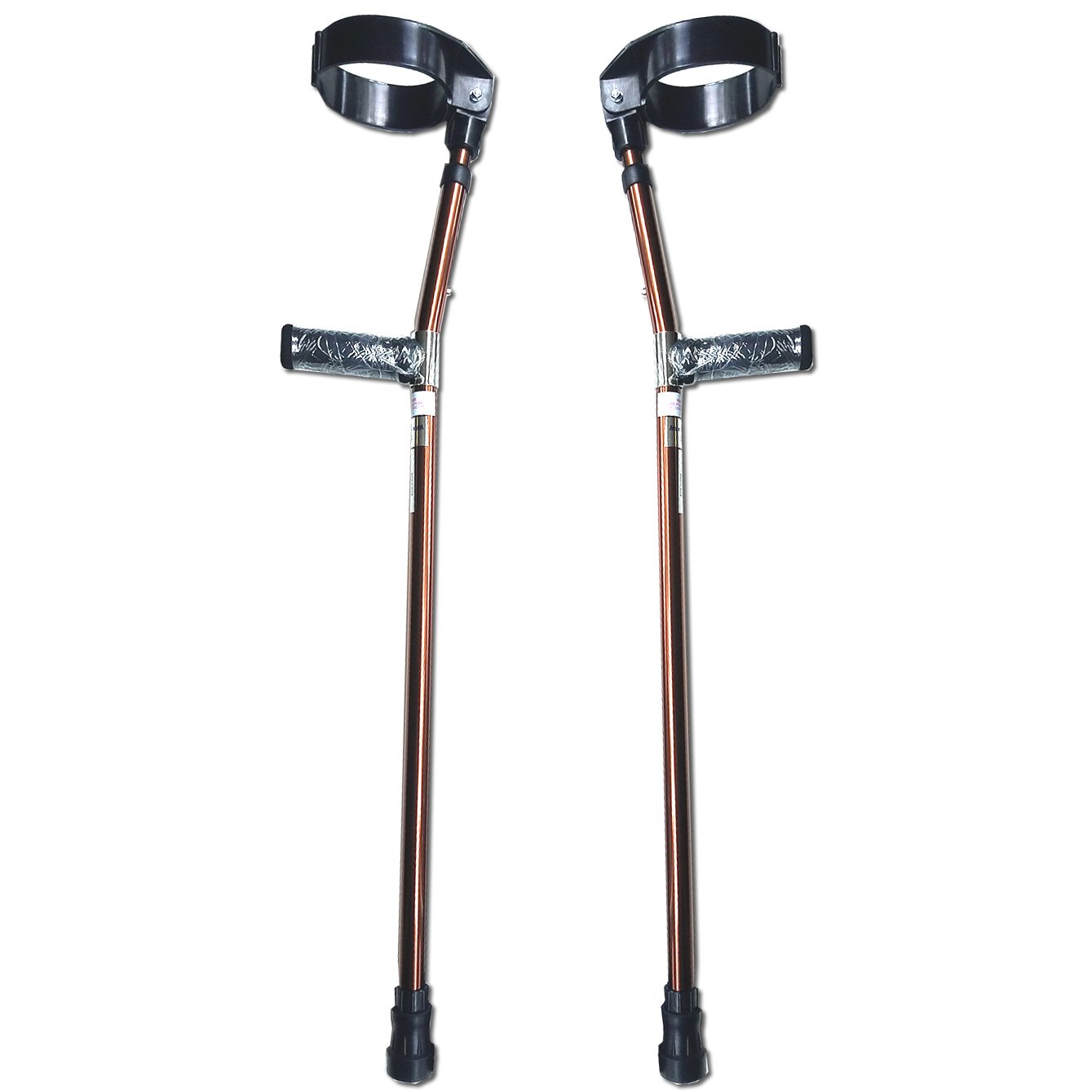 Walking Lightweight Adjustable Forearm Crutches Size M (Pair) - Bronze