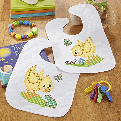 Herrschners® PreQuilted Hello Sunshine Baby Bibs Stamped Cross-Stitch Kit