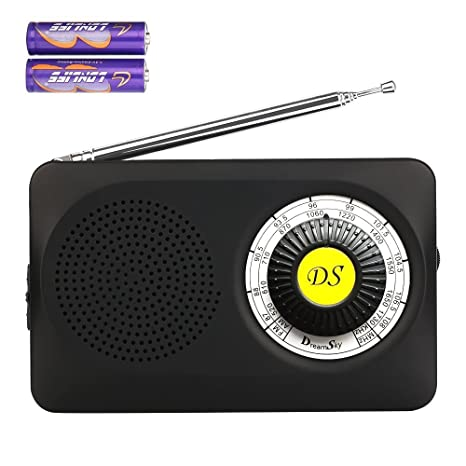 dreamsky tragebares Radio Am/FM con Altavoz, Auriculares DE 3,5 mm Hembra